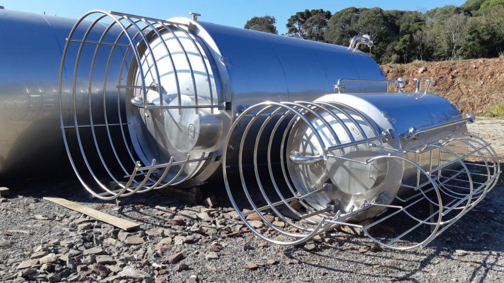 Tanque de aço inox para água